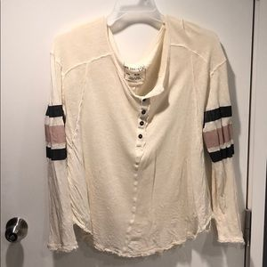Free people long sleeved striped top